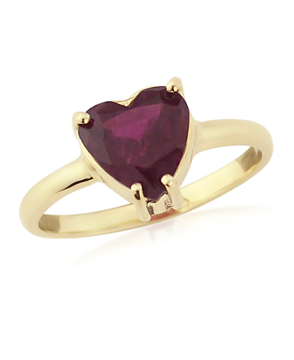 Gold tourmaline heart ring