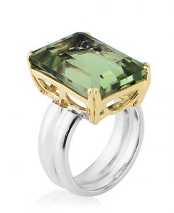 Sterling Silver and Green Amethyst ring