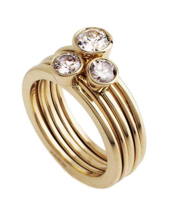 Diamond Engagement ring;gold ring, diamond ring