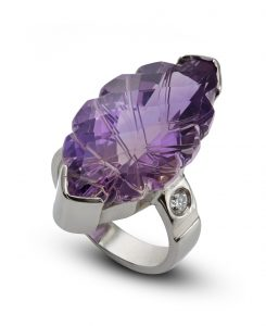 Amethyst ring; cocktail ring ;gold ring;engagement ring
