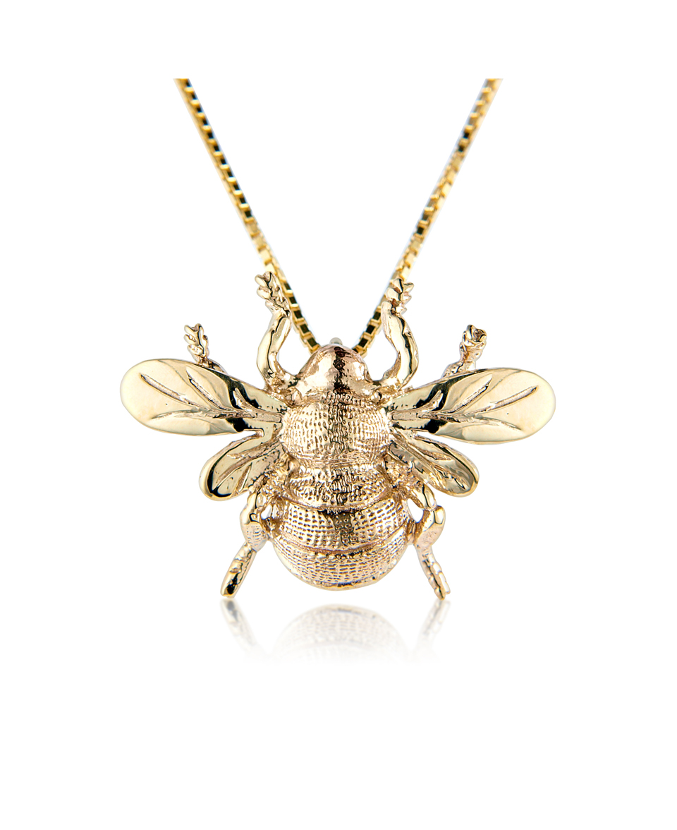 bee monaco bonbon apm necklace red silver bumble