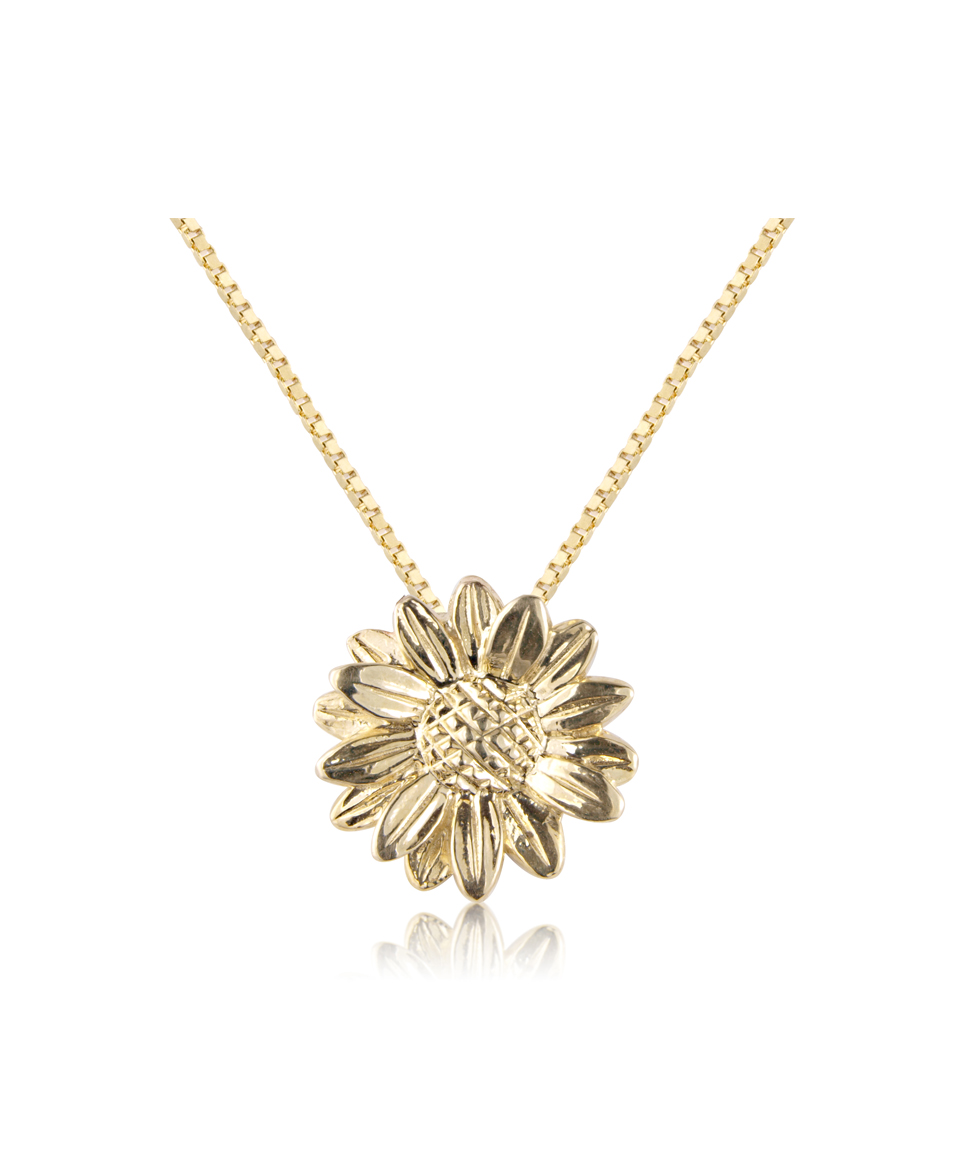 silver gold plated image elements daisy from ladies pendant and