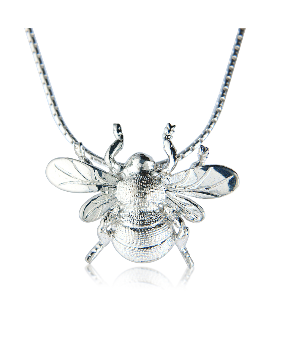 luck and sterling silver success necklace gold bee bumble mantra