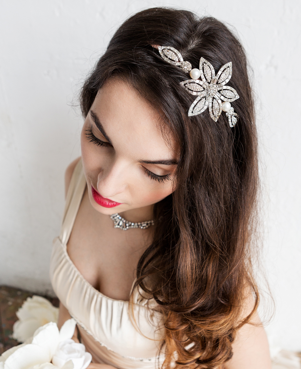 Crystal Vintage Flower Headpiece