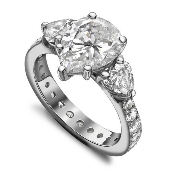 bespoke platinum bagette and brilliant diamond eternity ring