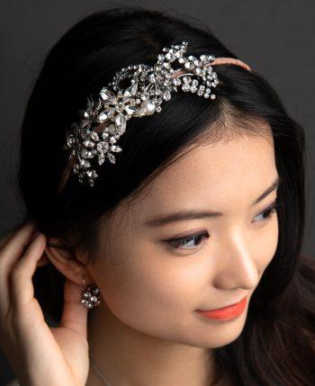 crystal flower vintage headband