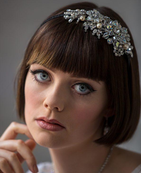 floral crystal headband