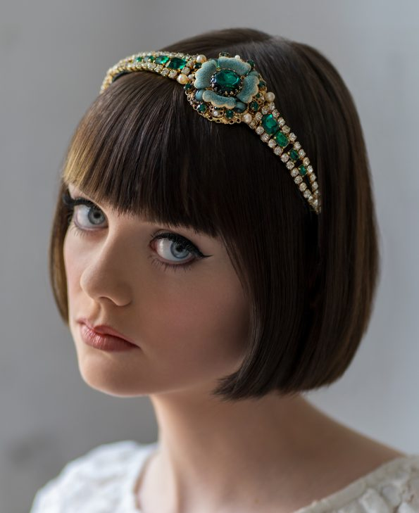 green headband;wedding hair accessory;gatsby party;gatsby wedding