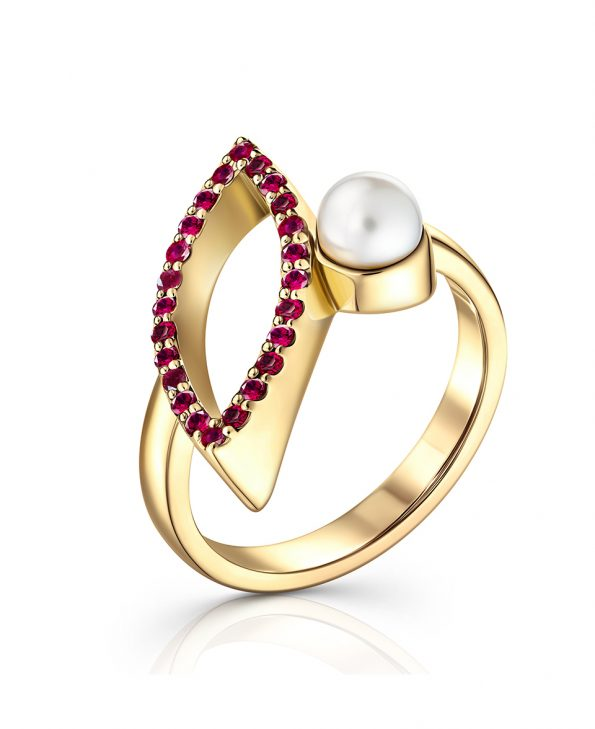 Ava marquis yellow gold pave ruby engagement ring