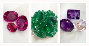 gemstones, rubies, emeralds, amethyst